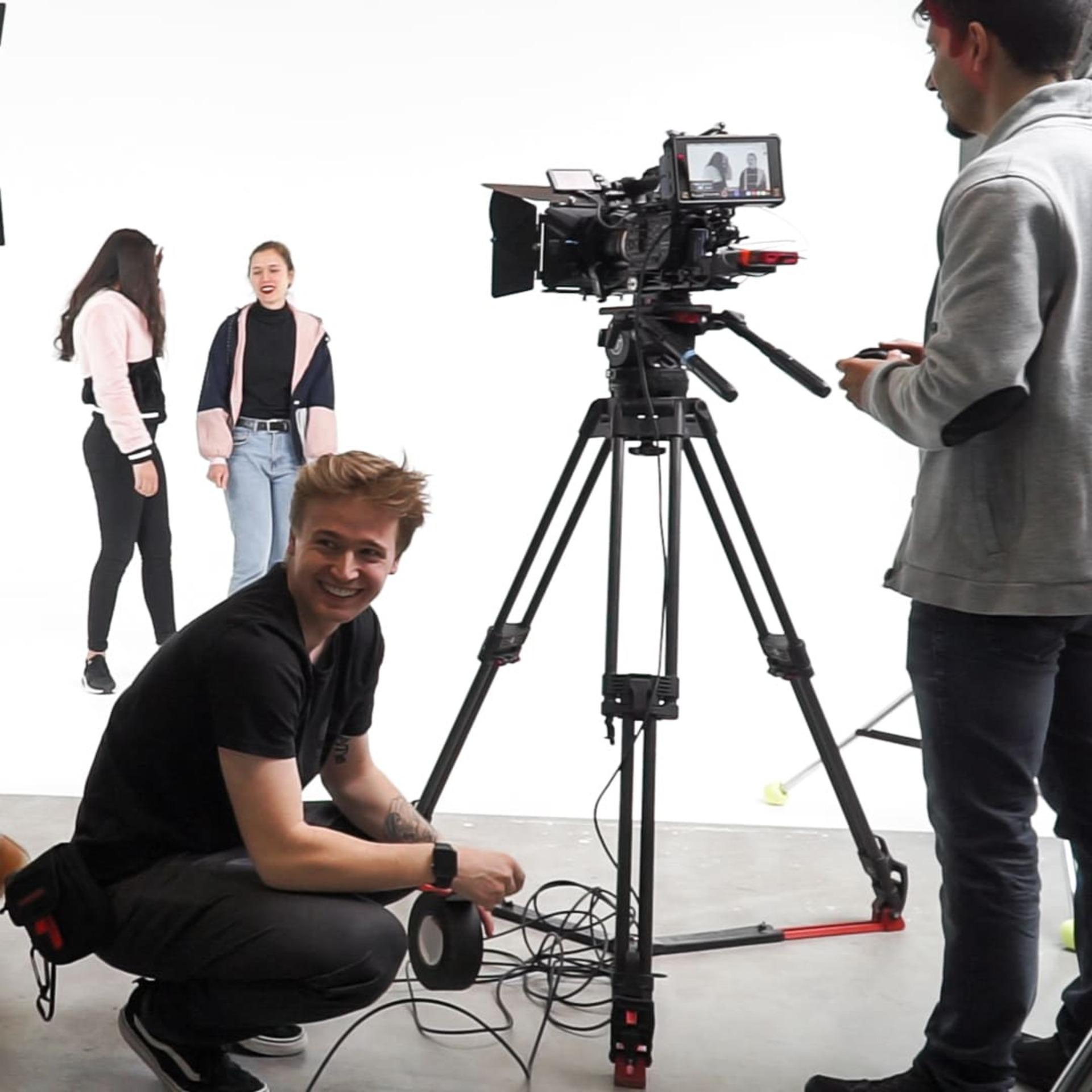 hinter den kulissen eines musikvideos im studio
